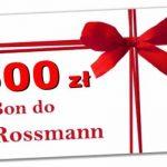 Konkurs rossmann bon 500 zł